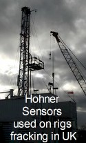 Hohner Supports Fracking in the UK!  Photo of rig active in British shale.